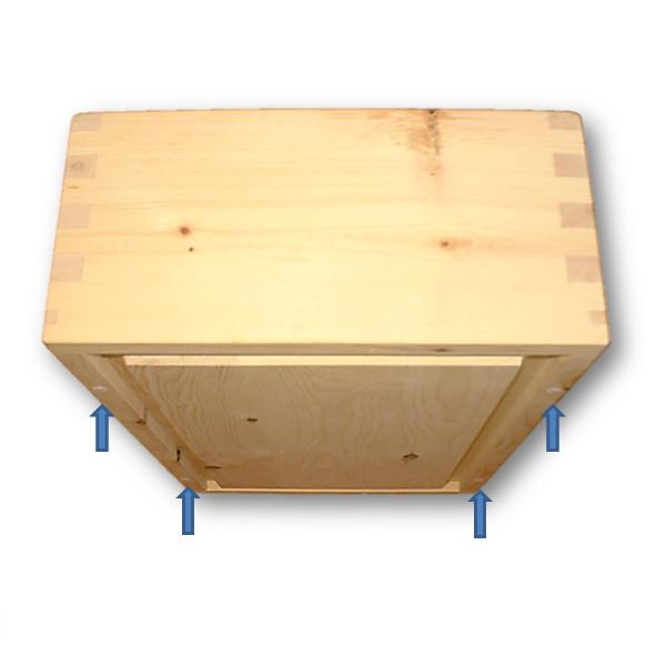 zirbenholzbrotdose gross und rechteckig gezinkt mit. Black Bedroom Furniture Sets. Home Design Ideas