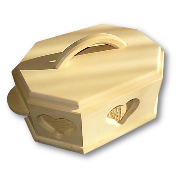 zirbenholzbrotdose achteckig mit aufw ndiger schnitzerei vom tischler mit herz gemacht. Black Bedroom Furniture Sets. Home Design Ideas